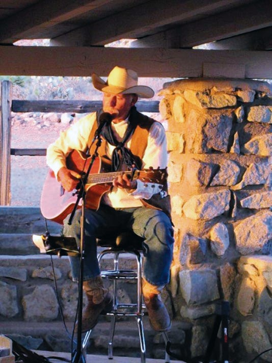 "Courtesy Photo   The Friends of Rockhound State Park kick off their ""Music at Rockhound"" season with Mike Moutoux, New Mexico's Enchanting Cowboy. The concert is from 6 to 8 p.m. this Saturday at the group shelter in the campground. The park is located 12 miles south of Deming. This event is free and sponsored by Friends of Rockhound. Please bring a folding chair and a picnic dinner, if you so desire. For more information, please call the park at 575-546-6182."