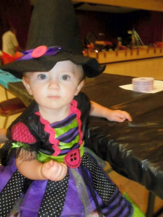 Chloe Guyer is pictured at a Halloween event hosted last October by Ashlyn's Angels.