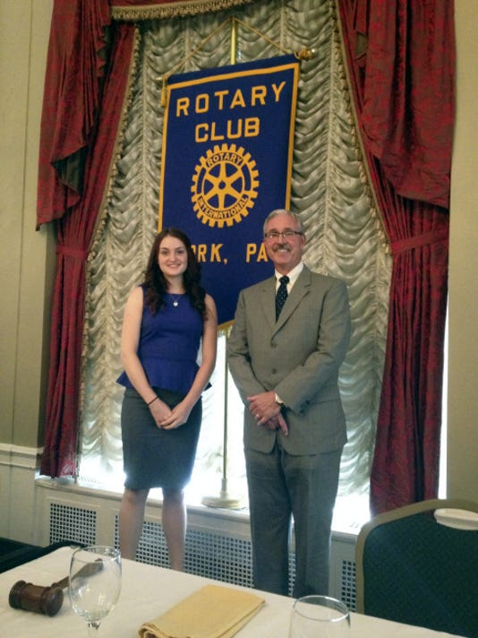 Maggie Kruger, a William Penn graduate, received the Bush scholarship from the York Rotary Club. 'Maybe indirectly, they kind of showed me to love where I came from.'