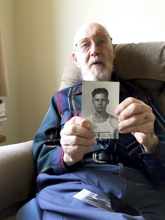Fred Burkins joined the Merchant Marines during World War II because the Navy wouldn't take him.