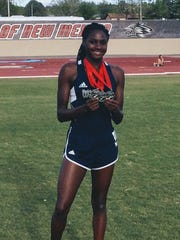 Shalom Keller earned second place in the 100, 200 and 400 meter dashes at the Marilyn Sepulveda meet.