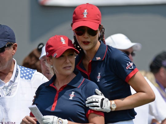08/16/2013 Solheim Cup Wie and Kerr