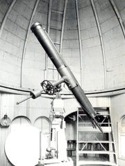 The telescope at the Elmira College Observatory in an undated photo