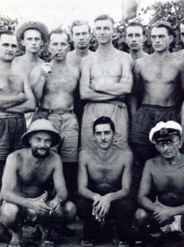 Some of the 25 German prisoners who escaped from Camp Papago Park.