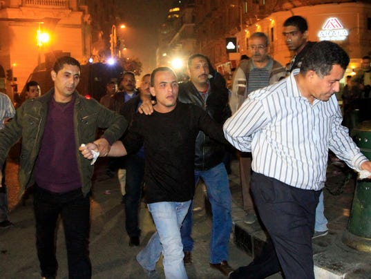 Egyptian security forces arrest protester