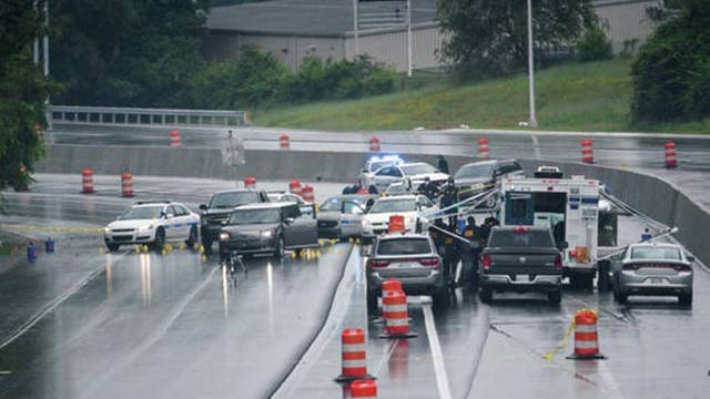 The Tennessee Bureau of Investigation and other agencies investigate a police involved shooting along Interstate 440 near Nolensville Pike.