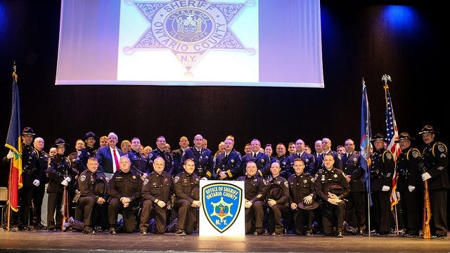 Sheriff Kevin Henderson and the officers of the Ontario County Sheriff's Office.