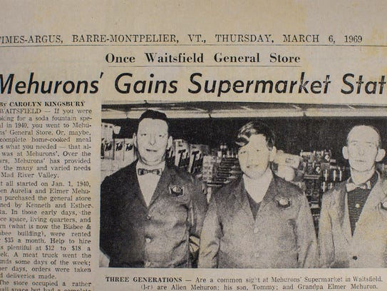 A news clipping from 1969 notes the evolution of Mehuron's