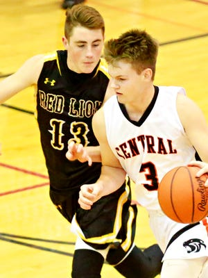 Cade Pribula, 3, scored 23 points Monday in Central York's win over West York. YORK DISPATCH FILE PHOTO