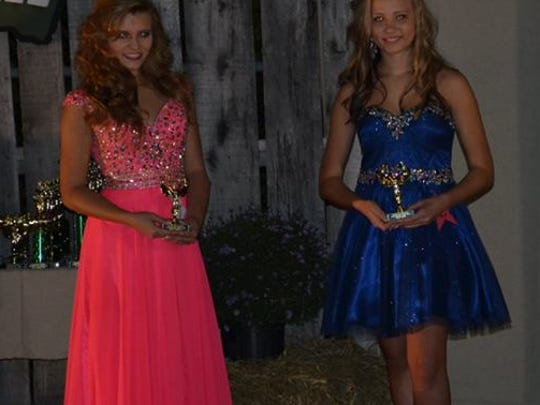 Halee Phillips, left, was first runner-up and Sydney