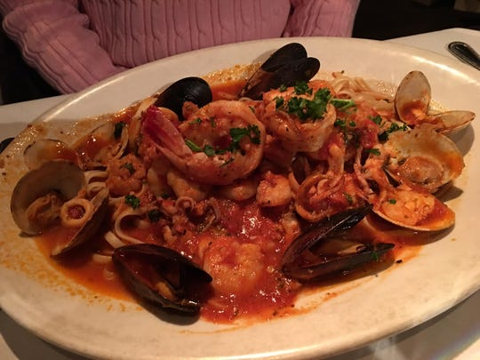 Fruitti Di Mare at L'Italiano is full of the fruits of the sea.