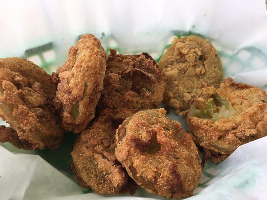 Fried green tomatoes at Querbes Restaurant.