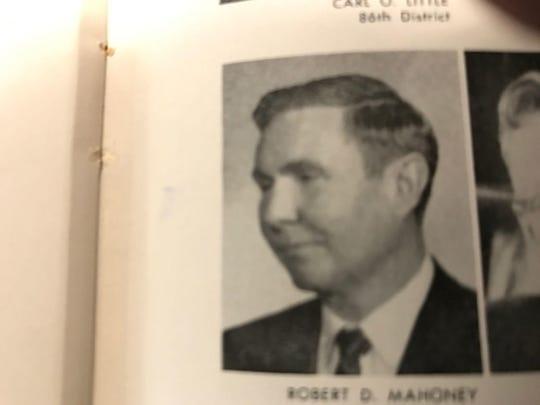 Robert Mahoney as he appeared in the legislative Michigan Manual of 1965-66.