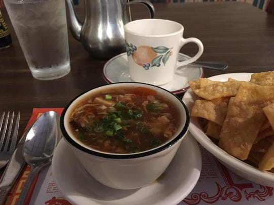 Hot and Sour Soup at Ming Garden.