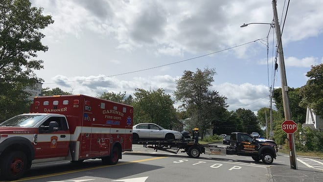 Police and firefighters responded to a two-car crash at the intersection of Conant Street and Timpany Boulevard in Gardner just after noontime on Sept. 14. Reports of injuries were not available at press time.
