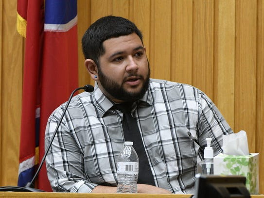 Co-worker Kevin Flores testifying during the second