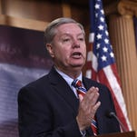 Sen. Lindsey Graham, R-S.C. speaks during a news conference on Capitol Hill in Washington.