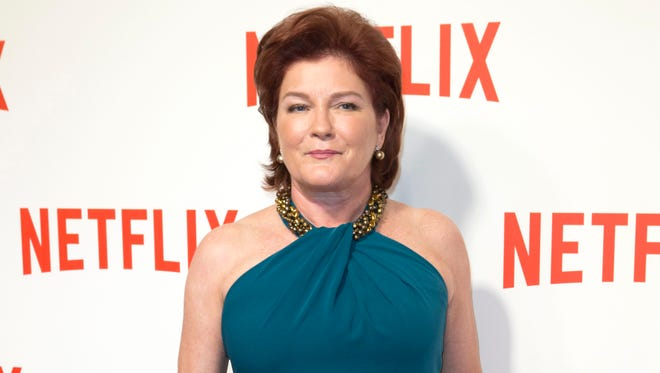 "Actress Kate Mulgrew attends the ""Netflix"" launch party in Paris, France on Sept. 15, 2014. Mulgrew released ""Born with Teeth: A Memoir,"" on April 14."