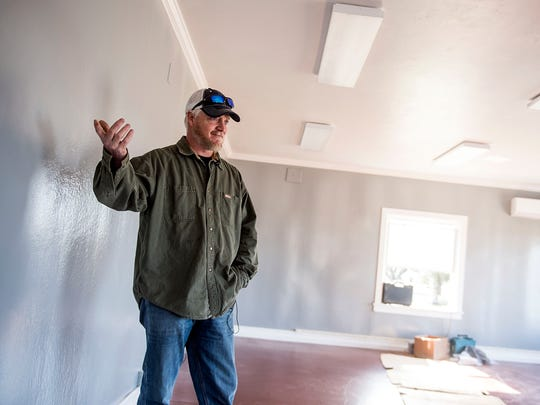Beau Ramsburg, owner of Rettland Farm, stands in what will be the retail building of his butcher shop, which he hopes to open in the coming months. Ramsburg is excited to open his butcher shop on his farm, which will keep everything from taking care of the poultry and pork to selling it in-house.