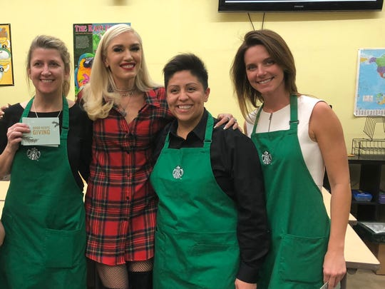 Gwen Stefani and the Give Good squad visited a youth