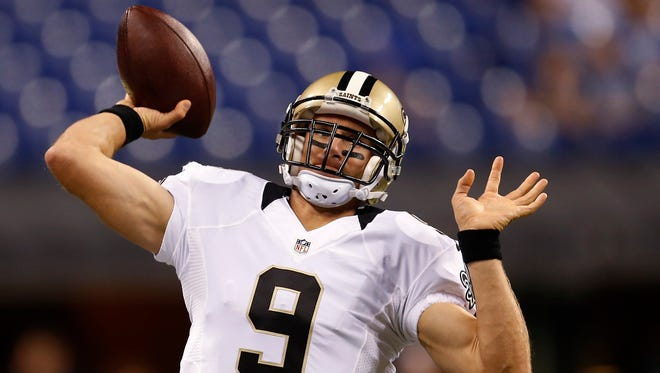 Drew Brees throws for 312 yards in Thursday's win over Atlanta.