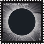 New Total Solar Eclipse of the Sun Forever stamp uses special ink, changes when touched