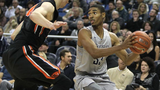 Wolf Pack guard Josh Hall has returned to practice after missing five games with a concussion and shoulder injury.
