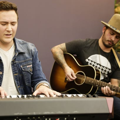 """Gabe Broussard, left, and Lane Mack, singers from """"The"""
