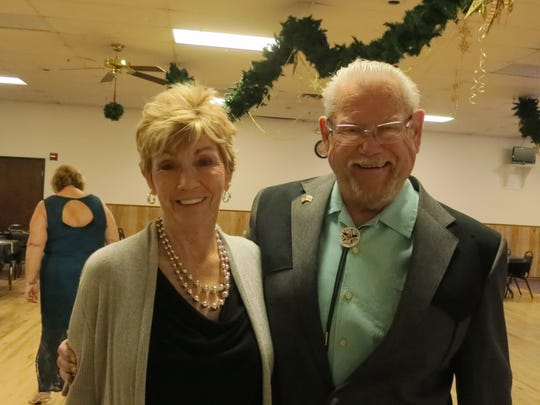 Heather Grant and Dennis Carr, both of Redding, attend the New Year's Eve Celebration Dance on Dec. 31 at the Frontier Senior Center in Anderson.