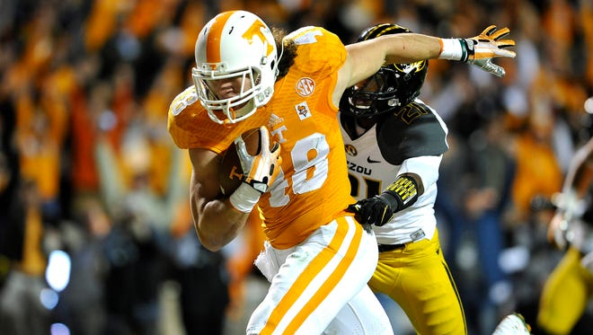 Tennessee tight end Alex Ellis graduated from Delmar High.