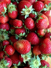 Fresh strawberries purchased at the Wylie Farmers Market in late May 2017.