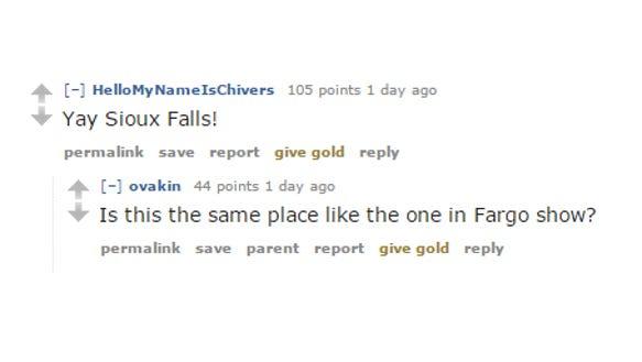 Reddit conversation