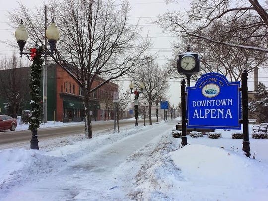 Downtown Alpena, Michigan, home of the Thunder Bay