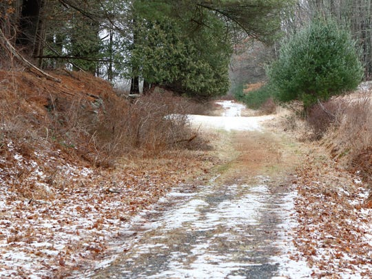 An access road to Ward Pound Ridge Reservation in Cross