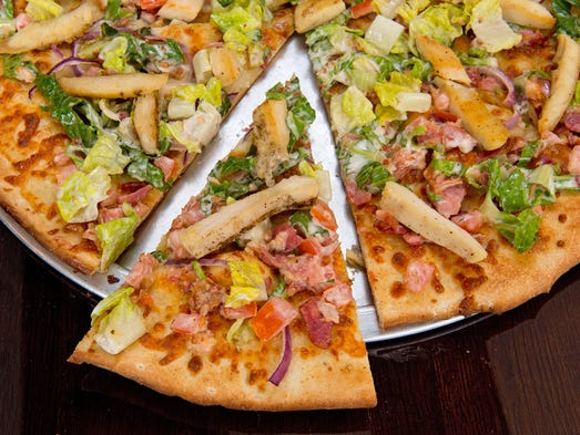 A BLT pizza from Rusconi Pizza Pub, the new eatery opening in the old FB's space Downtown.