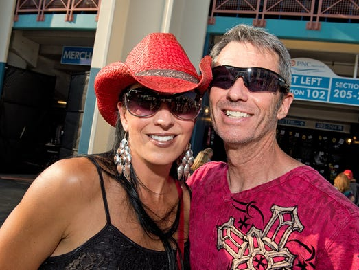 Jill and Dave Hickey of Union before Aerosmith performed at Riverbend Music Center, along with Slash featuring Myles Kennedy and the Conspirators.