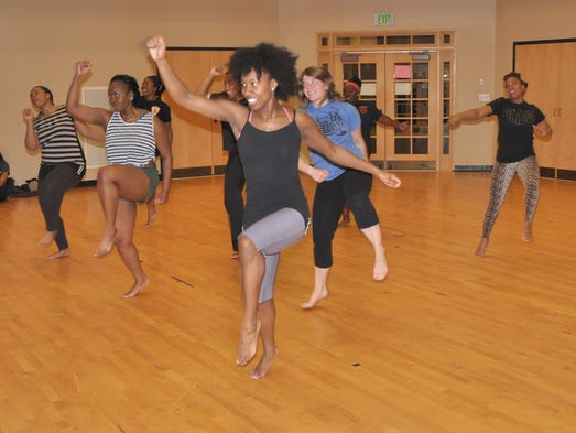 The Jahari Dance Troupe practices at the Black Cultural Center.
