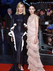 Cate Blanchett (left) and Rooney Mara at the premiere