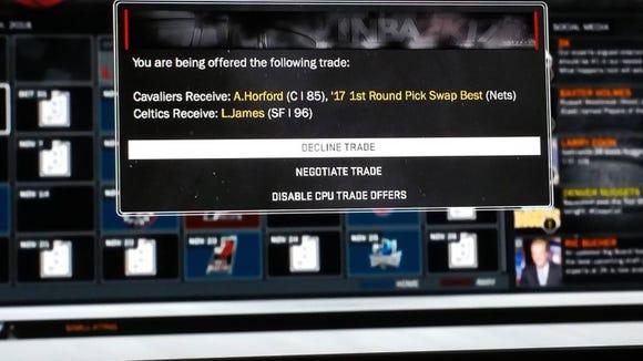 Celtics propose bad LeBron trade in NBA 2k17 glitch