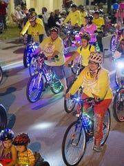 SWFL Critical Mass bike riders  will celebrate April
