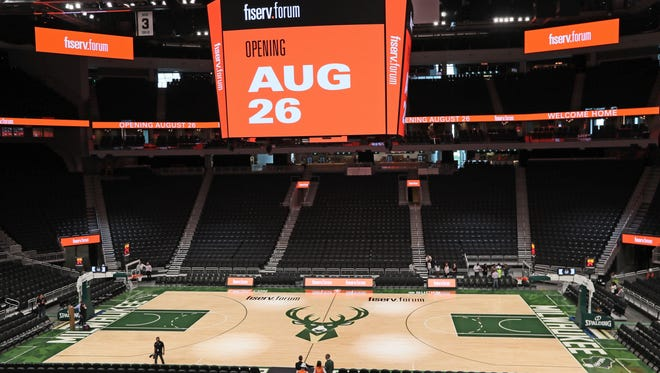 The Bucks will play the Bulls in the first preseason game at the Fiserv Forum.