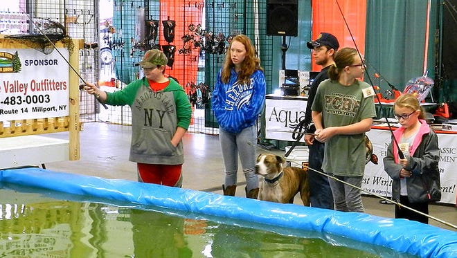 The fishing pond is a popular attraction at the annual Southern Tier Outdoor Show in Bath.