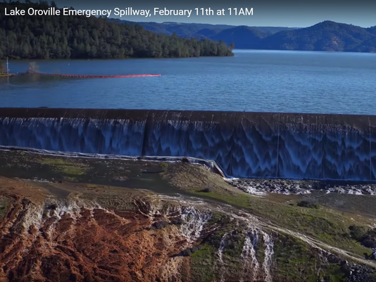 Lake Oroville emergency spillway