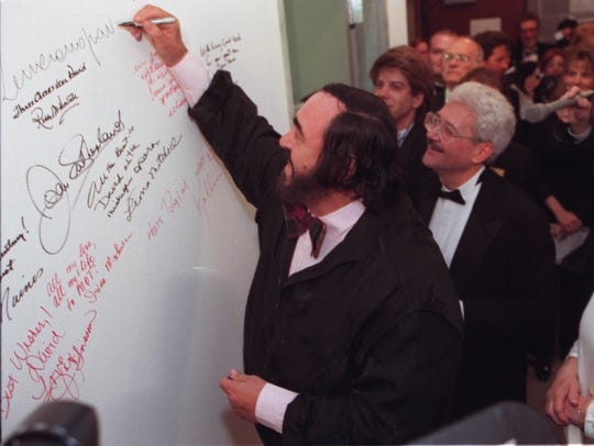 In 1996, opera superstar Luciano Pavarotti signed the