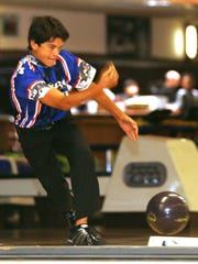 Nick Myers, 14, rolled a ball during a Saturday league at Bowl El Paso. Myers won the singles and all-event titles in the El Paso USBC Youth City Tournament earlier this month.
