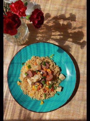 This is jambalaya from the Jonbalaya restaurant.