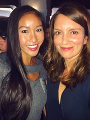 Binh Nguyen met comedian and writer Tina Fey at a luncheon
