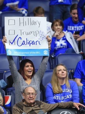This fan is voting for John Calipari.