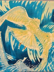"""Gull Flight"" is among the artworks from Viggo Holm Madsen that will be on display at Phelps Mansion Museum."