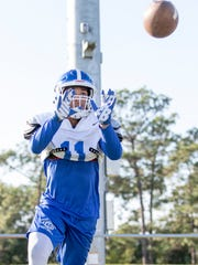 Receiver Ishmel Morrow (11) during football practice